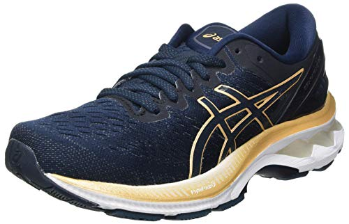 ASICS Gel-kayano 27, Women's Stroke Running Shoe, French Blue/Champagne, 6 UK (39.5 EU)
