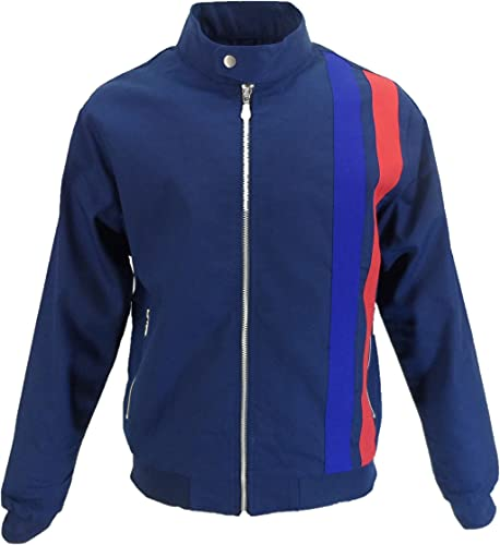 Mazeys Mens Real Hoxton Rally Jacket (Navy, xx_l)