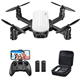 Potensic Elfin Mini Drone with Camera, 2K Drone for Adults Kids FPV Foldable Drone Gift for Beginners with Gravity Sensor, Trajectory Flight, Gesture Control, Headless Mode, Optical Flow Positioning