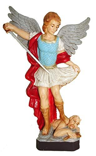 Ferrari & Arrighetti Estatua de Exterior San Miguel Arcángel de Material irrompible y Pintada a Mano - 16 cm