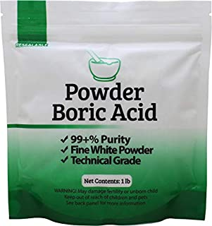 Duda Energy borp1 Fine Powder Boric Acid H3BO3 99, 1 lb. (Packaging may vary)