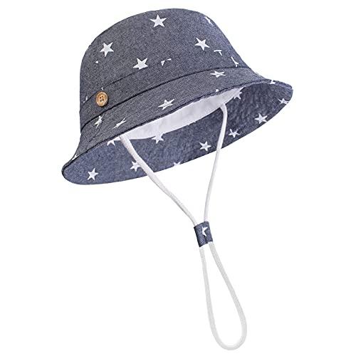 DRESHOW Unisex Baby Kleinkinder Sonnenhut Kappe Mütze Fischerhut Strandhut Kinder Baby Stern Sommerhut UV Schutz UPF 50+