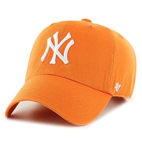 47 Brand NY Yankees Clean Up Cap - Vibrant Orange