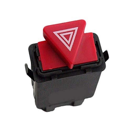 LIZCX YAOQIHAI Peligro de Coches Advertencia Interruptor luz indicadora del botón Rojo 8D0941509H 8D0 941 509 H for Audi A3 A4 A6 Allroad C5 (Color : As Shown)