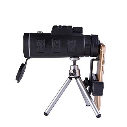 Telescopio Monocular para Smartphone Alta Potencia 40x60 Pequeño Telescopio Portátil Profesional para Adultos Resistente Al Agua Prisma Bak4 con Brújula Trípode para Acampar En iPhone