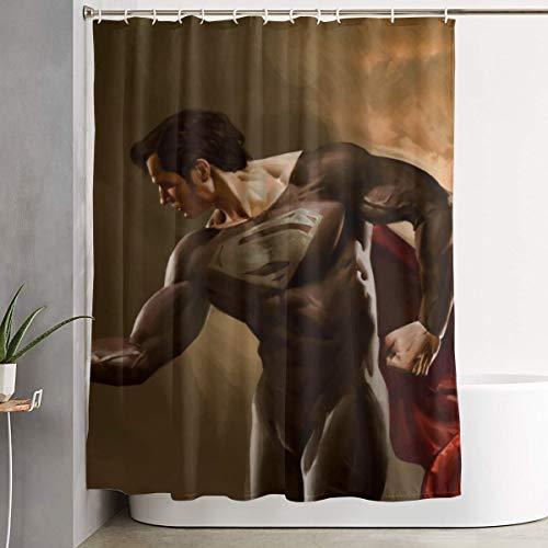Asakawaholique Superman Duschvorhang, wasserdichter Stoff, Dekoration, kann für Familie, Hotel, Badezimmer verwendet werden