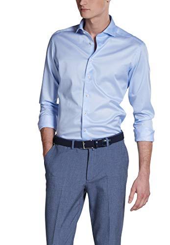 Photo of Eterna Long Sleeve Shirt Slim FIT Twill uni Light Blue
