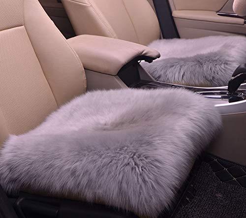 ABLUD 2-delige autostoelkussen, wollen autokussen, volledige afdekking van de zitting, afwasbaar, enkele zitting, zonder rugleuning, geschikt voor slaapbank
