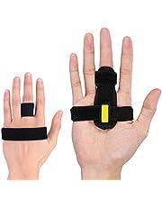 HaofyTrigger-vingerspalk,vingerstabilisatorvoorbreukenenverstuiking,mallet-vingerbracemetverstelbarebevestigingsriemeningebouwdealuminiumondersteuningvoorrechttrekkenenpijnverlichtin