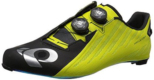 Pearl Izumi Pro Leader V4, Zapatillas de Ciclismo de Carretera Unisex Adulto, Multicolor (Negro/Lima 000), 43 EU