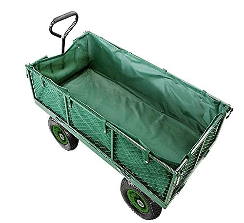 Izzy Bollerwagen mit Plane Gartenwagen Handwagen Luftreifen Deichsel 350kg Tragkraft