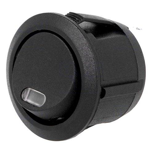 Universel bascule Interrupteur à bascule pour bouton poussoir Interrupteur rond en un avec Kontrol Lampe Rouge pour 12 V DC