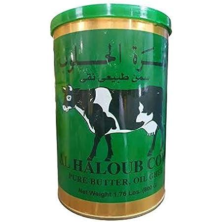Amazon Com Al Haloub Cow Pure Butter Oil Ghee 2 Cans 14 1oz 400gm Each البقرة الحلوب سمن طبيعي نفي أصلي Grocery Gourmet Food