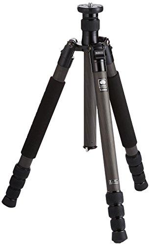 SIRUI T-2204X Traveler Reise-Dreibeinstativ (Carbon, Höhe: 142,5cm, Gewicht: 1,26kg, Belastbarkeit: 15kg) mit Tasche und Gurt