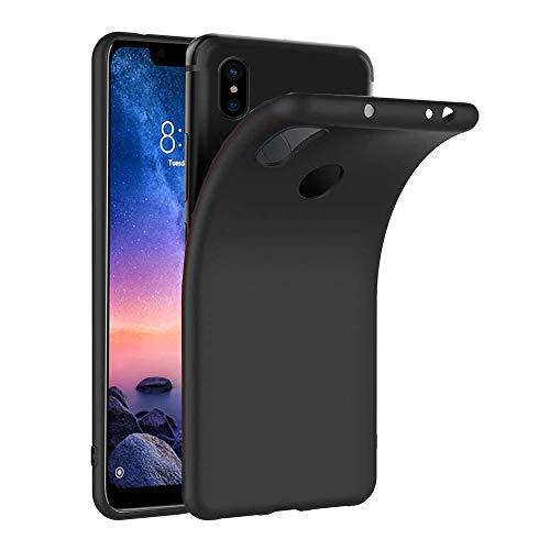 Ferilinso Hülle für Xiaomi Redmi Note 6 Pro, Ultra [Slim Thin] Kratzfestes TPU Gummi Weiche Haut Silikon Fall Schutzhülle für Xiaomi Redmi Note 6 Pro (Schwarz)