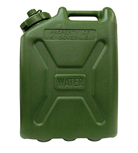 USGI Plastic Water Can, 5 Gallon, Green