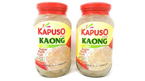 Kapuso Kaong White Sugar Palm Fruit in Syrup 340g, 2 Pack