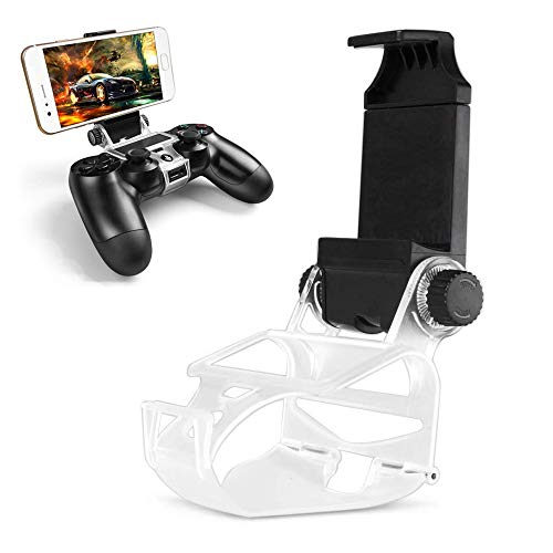 DLseego PS4 Controller Phone Mount, PS4 Phone Clip Holder Klemmhalterung Ständer für Android,180 ° Gaming Holder Halterung für Playstation 4 Slim Pro Dualshock Console