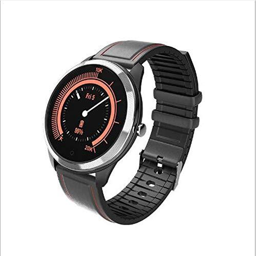 Compatible Android iOS Reloj Inteligente,Dormir Deporte Pulsera De Actividad Actividad ECG+PPG Pulsómetros Monitor Reloj De Contador De Pasos Impermeable Smart Watche Negro-a 1.22inch