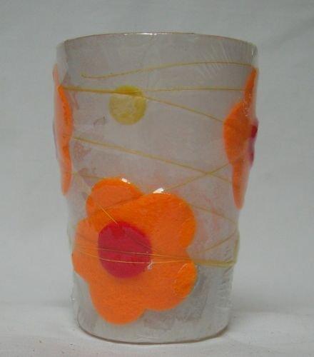 Teelichtglas Fanny Flowers 2er -Set