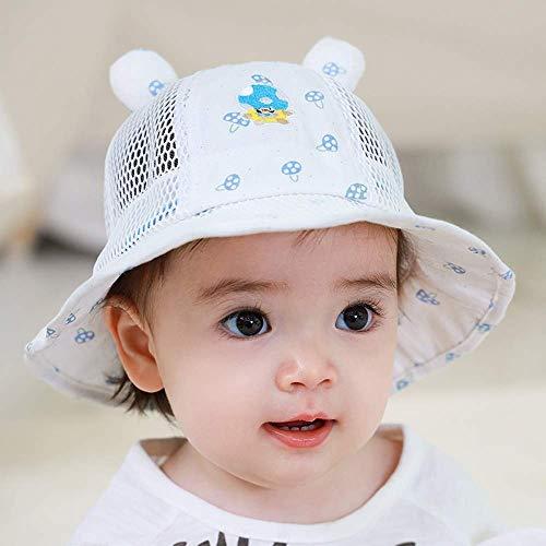 Sombrero de dibujos animados para bebé Verano Sección delgada Protector solar Sombrero para el sol Hombres y mujeres Sombra para niños Sombrero de pescador Gorra de verano transpirable para bebés Al