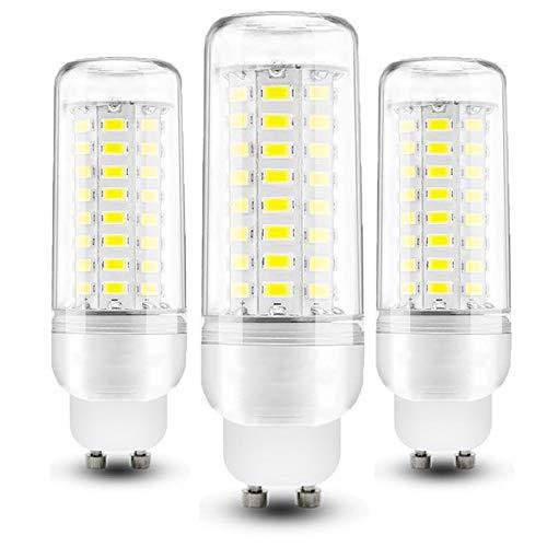 YDHNB Bombilla LED GU10 12W Equivalente Lámpara Halógena de 100W Blanco Frio 6000K 1350lm Angulo de Haz de 360° Ahorro de Energía Lampara, No Regulable, Sin Parpadeo, Paquete de 3,220V