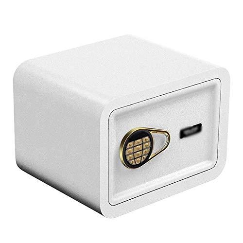 Wangjunxu Safes Klein waardevol, veilig digitaal cijfertoetsenbord, led-indicatoren, 22 mm stalen vergrendelbouten, vuurbestendig kluis, voor thuis of op kantoor 25 x 35 x 25 CM wit