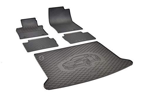 Passgenaue Kofferraumwanne und Gummifußmatten geeignet für Mazda CX-30 ab 2019 + Autoschoner MONTEUR