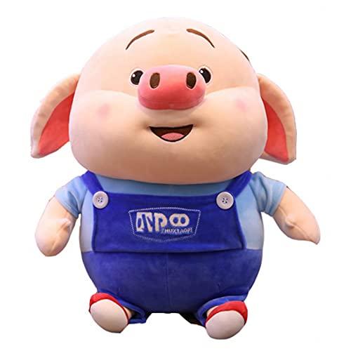Betory Piggy Fart Plush Toys,Cute Pig Stuffed,Cartoon Animal Doll Soft Nap Pillow Sofa Cushion,30Cm Piggy Dolls in Blue Clothes,Kids Girlfriends Birthday Best Gifts