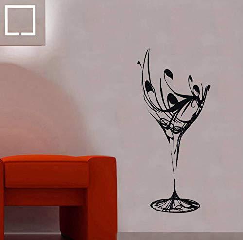 CHJKMN Weinglas Vinyl Wasserdichte Wandbilder Wandaufkleber für Wohnzimmer Hintergrund Wandtattoos Schönheitssalon 57X125 cm