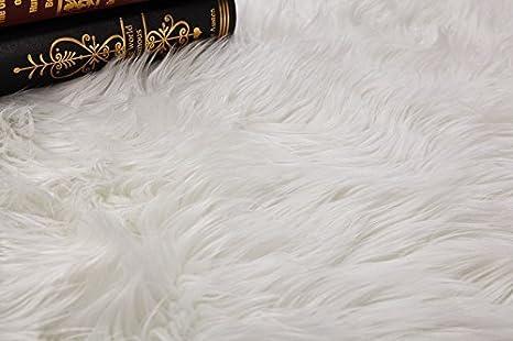 Imitazione Lana soffice Divano, Cumay Faux Tappetto di Pelle di Pecora Tappeto Tappetino per Il Letto Adatto per Tappeto per Soggiorno Pink, 70x135cm Lunga Pelliccia Morbida
