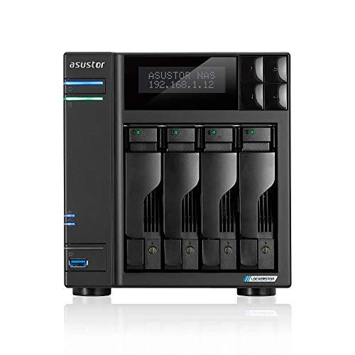 Asustor - ASUSTOR Lockerstor 4, Intel Celeron J4125 Quad-Core Gemini Lake -Refresh, 4 GB DDR4, 2,5 GbE x2, Ranuras M.2 (2280 NVMe SSD) x2