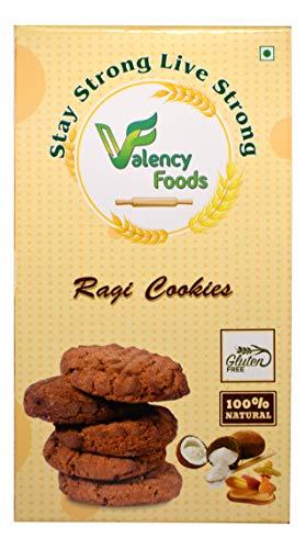 VALENCY FOODS Hi Fiber Delicious Food Ragi Gluten-Free Cookies ( Organic Ragi Flour Biscuit ) | High in Calcium & Fiber | (250GM)