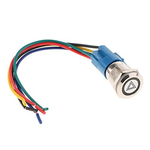 1 Stück Motorrad Lenkerschalter Ein/Aus-Schalter für allgemeine Lichter, Warnblinker, Nebelscheinwerfer, Scheinwerfer - Rot