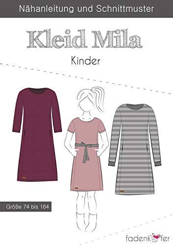 Stoffe Werning Schnittmuster Fadenkäfer Kleid Mila - Kinder in den Größen 74 bis 164 Papierschnittmuster