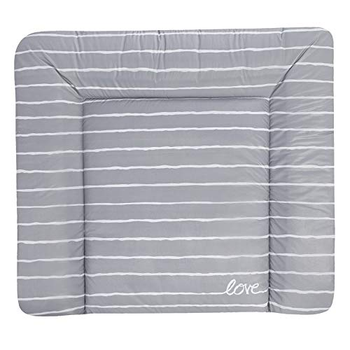 Julius Zöllner Wickelauflage Softy 75x60 cm Folie Grey Stripes