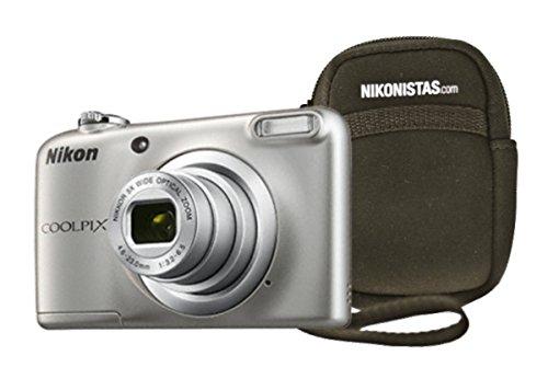 "Nikon COOLPIX A10 + Case 16.1MP 1/2.3"" CCD 4608 x 3456Pixeles Plata - Cámara digital (Corriente alterna, Pilas, Cámara compacta, 1/2.3"", 4,6 - 23 mm, Auto, LCD)"