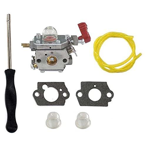 Gmasuber Carburador con kit de herramientas de ajuste destornillador para Craftsman Troybilt Yard Machine Trimmer 753-06288 C1U-P27 MS2550 MS2560 MS9900 RM430