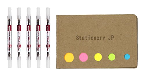 Uni Mechanical Pencil Eraser Refills C (SKC), 5-Pack/Total 25 Leads, Sticky Notes Value Set