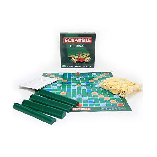 Russisch Bordspel Scrabble, Engels Scrabble-Spelspeelgoed, Letterblokken, Speelbord, Intelligentie voor Kinderen