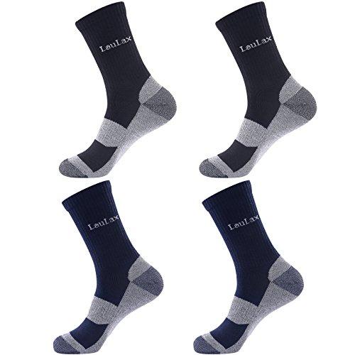 Laulax 4 pares de calcetines resistentes para trabajo, tama
