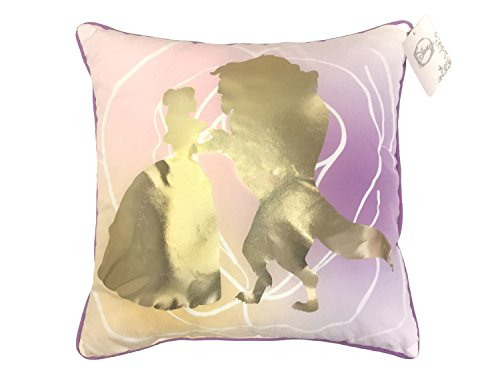 Disney Princess Beauty & The Beast Belle En Rose 16' Inch x 16' Inch Decorative Toss/Throw Pillow (Official Product)