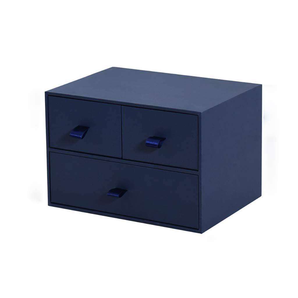 LQwjj Archivadores con Espiral Estudie la Caja de cartón Tipo cajón de la Vaca, la Caja de Almacenamiento de Papel de Escritorio A4, la Caja de Almacenamiento Opcional de Tres Colores, 25.: