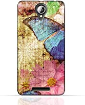 Lenovo A5000 TPU Silicone Case with Vintage Butterfly Pattern