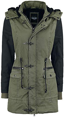 Rock Rebel by EMP Ladies Parka Frauen Winterjacke Oliv/schwarz M 100% Baumwolle Basics, Rockwear