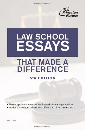 Download Law School Essays That Made a Difference, 5th Edition (Graduate School Admissions Guides) 0307945251
