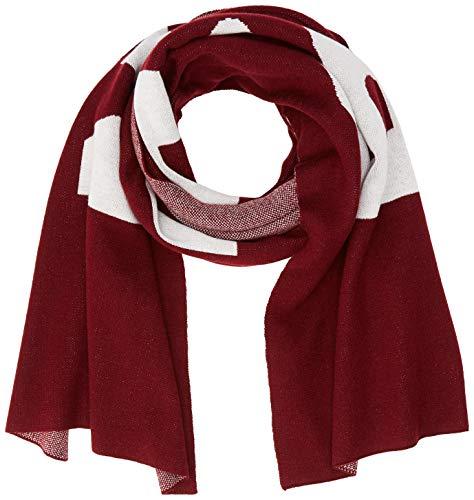 Liebeskind Damen S6189530 Mix Schal, Rot (Burgundy F 4580), One Size (Herstellergröße: N)