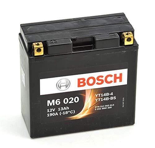 Bosch M6020 Batería motocicleta YT14B-BS - 12V AGM 12A/h-130A