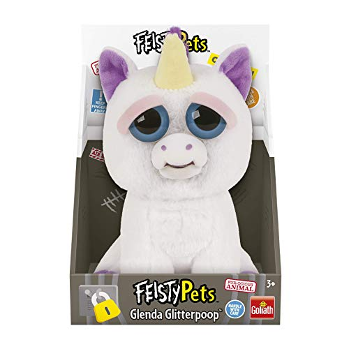 Feisty Pets Peluche Unicornio, color blanco/morado, Talla Ú
