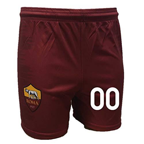 DND di D'Andolfo Ciro Pantaloncini A.S. Roma Calcio Prodotto Ufficiale Replica autorizzata - Personalizzabile con Il Tuo Numero Preferito - Taglie da Bambini e Adulti (12 Anni)